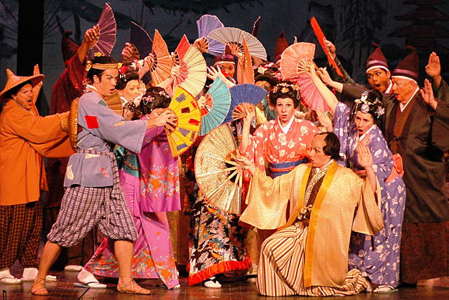 the mikado Set in japan, the mikado presents a tangled web of love nanki-poo, the son of  the mikado, flees in search of his true love, yumyum, to avoid marrying a much.