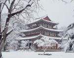 temple-in-winter Korea