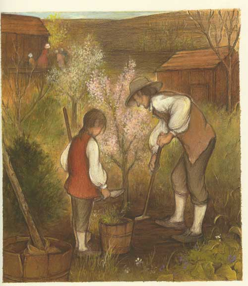the flower hunter illustration deborah kogan ray