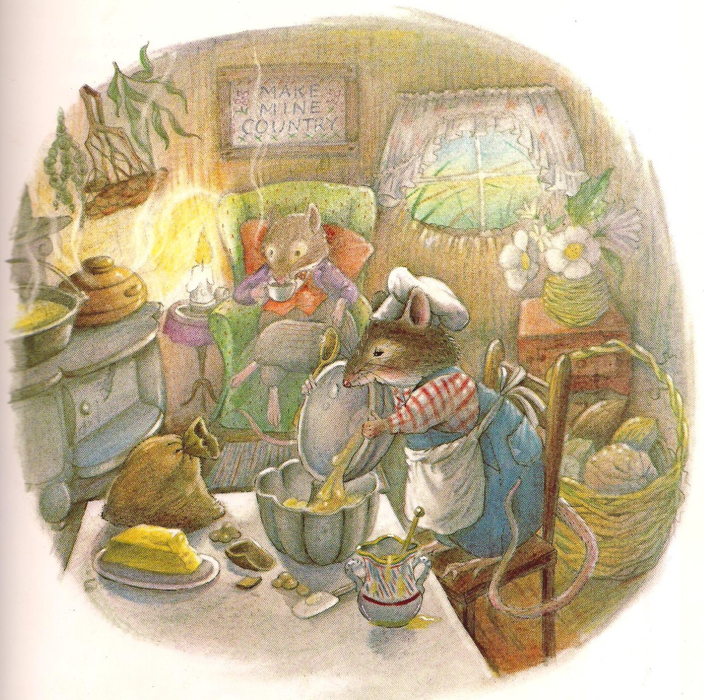 The town mouse and the country mouse illustration cauley for Country house com