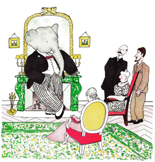 the story of babar illustration jean de brunhoff