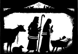 christmas,nativity,silhouette