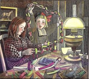 lucy's christmas illustration michael mccurdy 001
