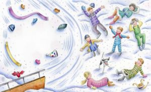 the iciest diciest scariest sled ride ever illustration jennifer thermes