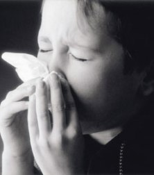 child with a cold from nutritiousfood on blogspot