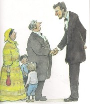 just a few words mr lincoln illustration charles robinson 001