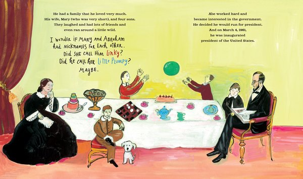 looking at lincoln illustration maira kalman
