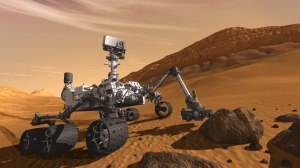 The newest rover, Curiosity.