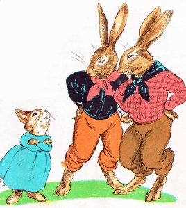 the country bunny and the little gold shoes illustration marjorie flack