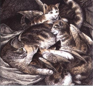catwings illustration by s.d. schindler