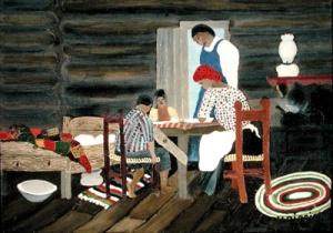Giving Thanks by Horace Pippin