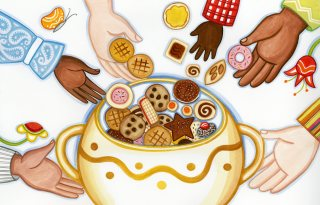 who put the cookies in the cookie jar illustration2 julie paschkis