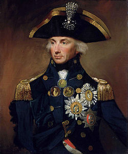 Of course Admiral Lord Nelson makes an appearance in the book.