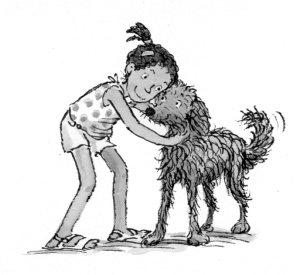 lulu and the dog from the sea illustration priscilla lamont