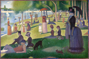 a sunday on la grand jatte by georges seurat
