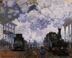 The Gare Saint-Lazare: Arrival of a Train by Claude Monet