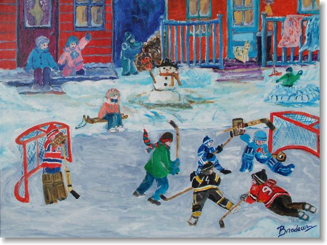 backyard in longeueil quebec by richard show from diskingalleries dot com