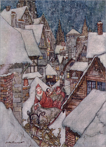 arthur-rackham-the night before christmas