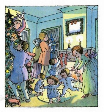 how brown mouse kept christmas illustration wendy watson