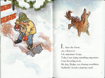 nate the great and the crunchy christmas illustration marc simont