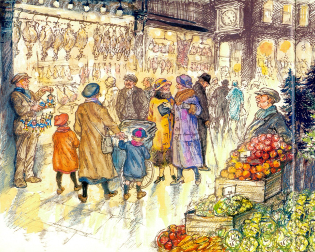 the christmas eve ghost illustration shirley hughes