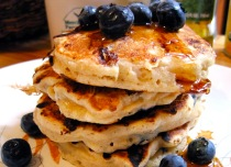 blueberry pancakes from kitchenkvell dot com