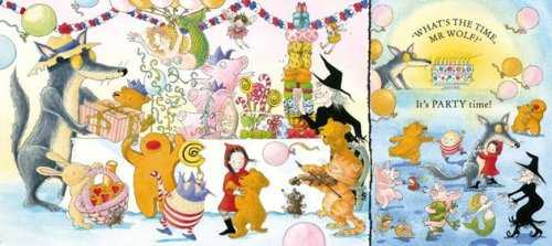 what's the time mr. wolf illustration debi gliori from booktrust dot org dot uk