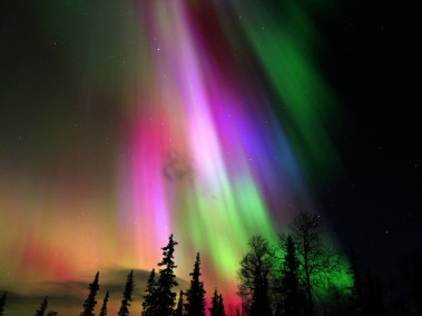 Colorful-Aurora-Borealis-in-Finland from lovethesepics dot com