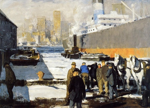 george bellows men of the docks