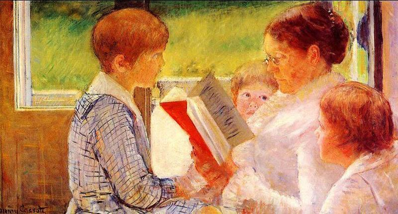 Mrs Cassatt Reading to her Grandchildren_ 1888 by Mary Cassatt