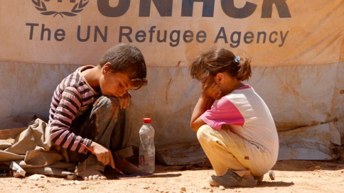 Syria: children speak from Zaatari refugee camp - video