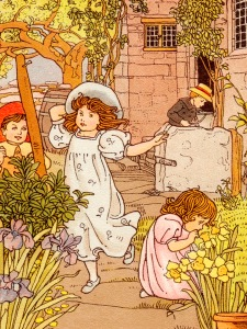 c1905 Children in the Garden from vintagefieldandgarden dot com