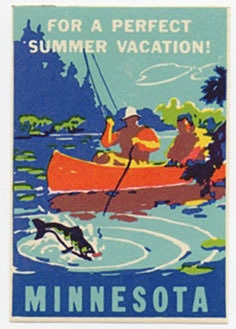 minnesota travel poster