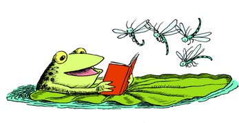 frog reading