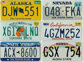 license plate 6-STATES from licenseplatesusa dot com