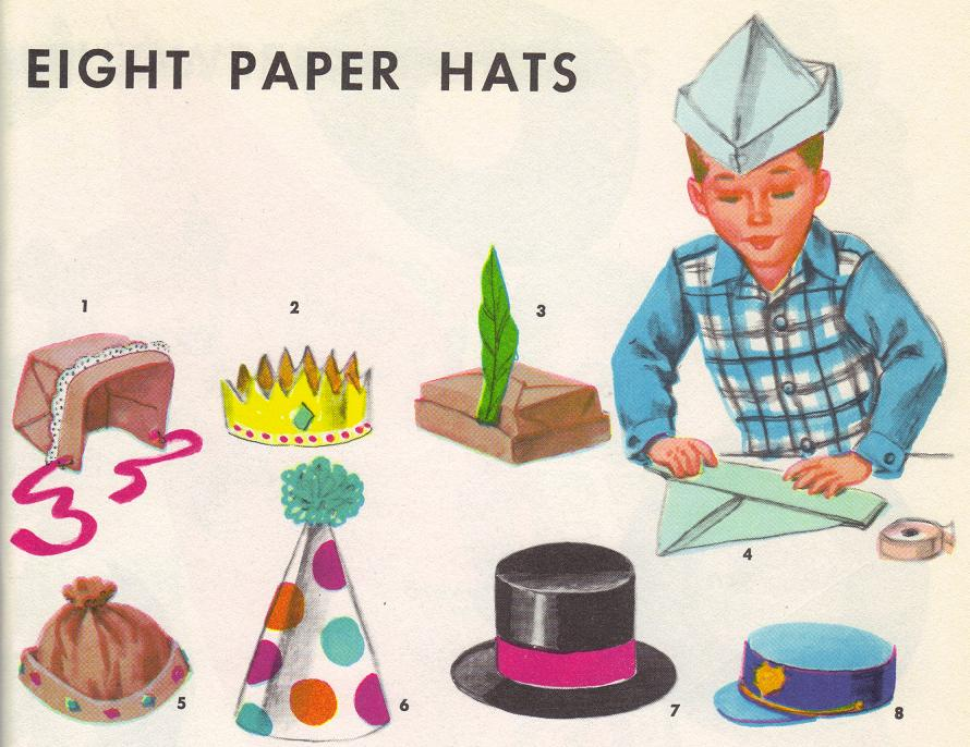 paper hats from copdandsomuchmore dot com
