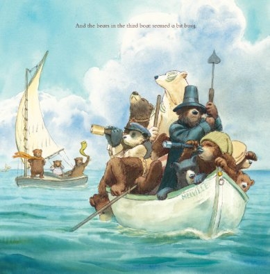 three bears in a boat illustration3 david soman