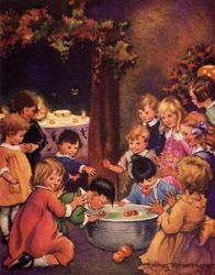 bobbing for apples by francis tipton hunter