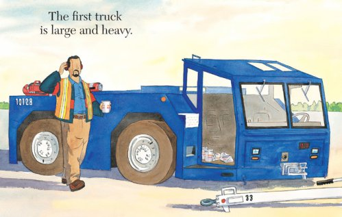 five trucks illustration brian floca