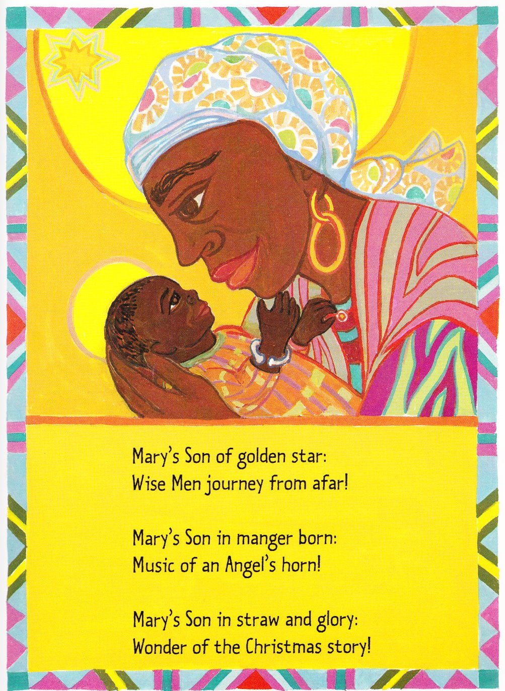 carol of the brown king langston hughes ashley bryan illustration 001