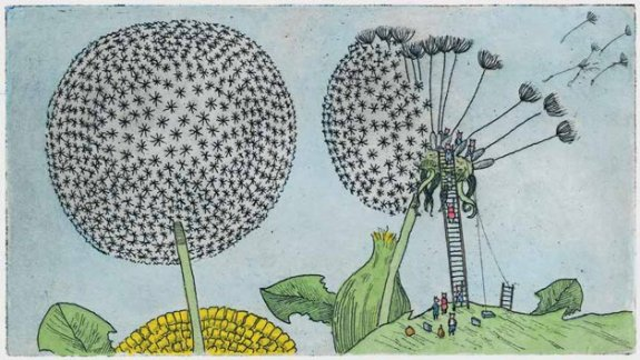 the giant seed illustration arthur geisert