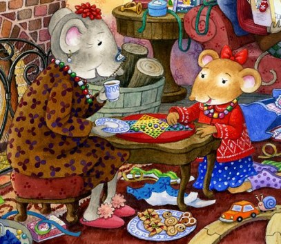 christmas with the mousekins illustration maggie smith