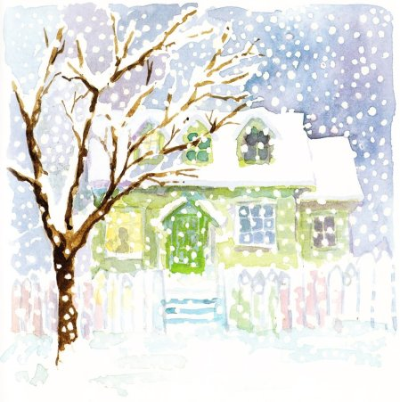 midnight snowman illustration catherine stock 001