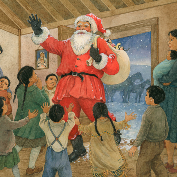 the christmas coat illustration ellen beier