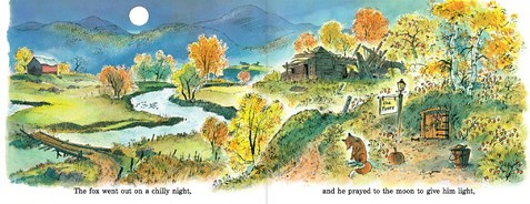 the fox went out on a chilly night illustration2 peter spier