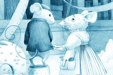 the mouse with the qeustion mark tail illustration kelly murphy