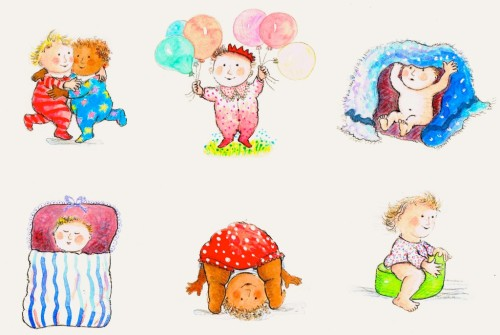 here come the babies illustration anholt