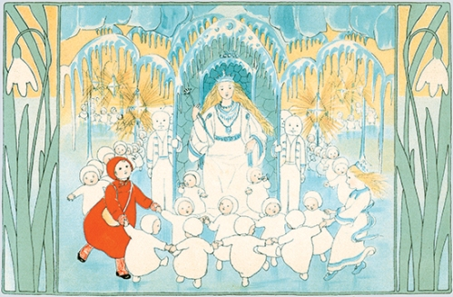the story of the snow children illustration sibylle von olfers