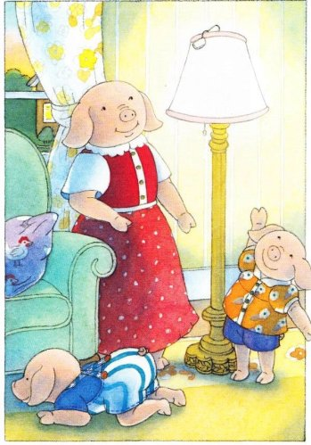 oliver amanda and grandmother pig illustration ann schweninger 001