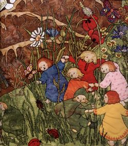 mother earth and her children illustration sieglinde schoen smith